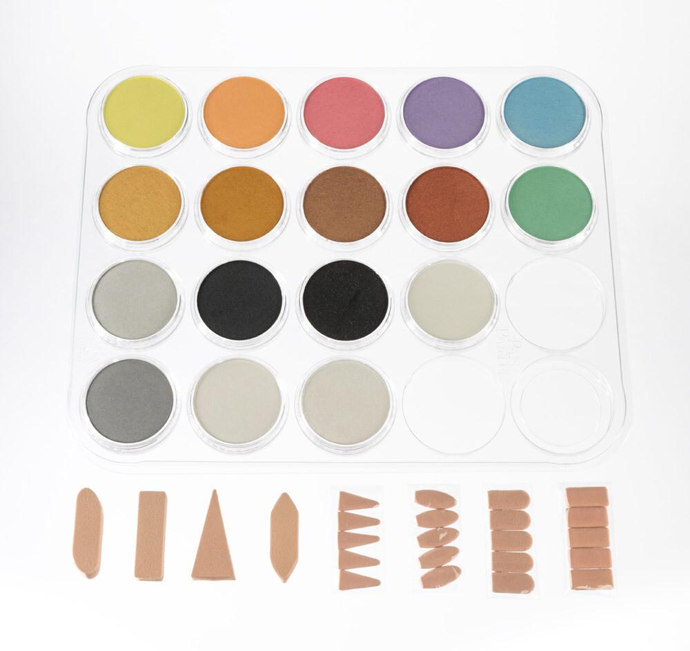 PanPastel - Metallics, Pearlescents & Mediums - 17 Colour Set