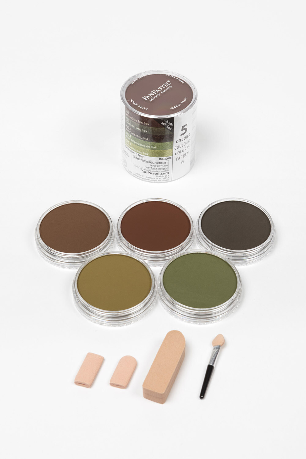 PanPastel - Extra Dark Shades - Earths Colours (5 Colour)