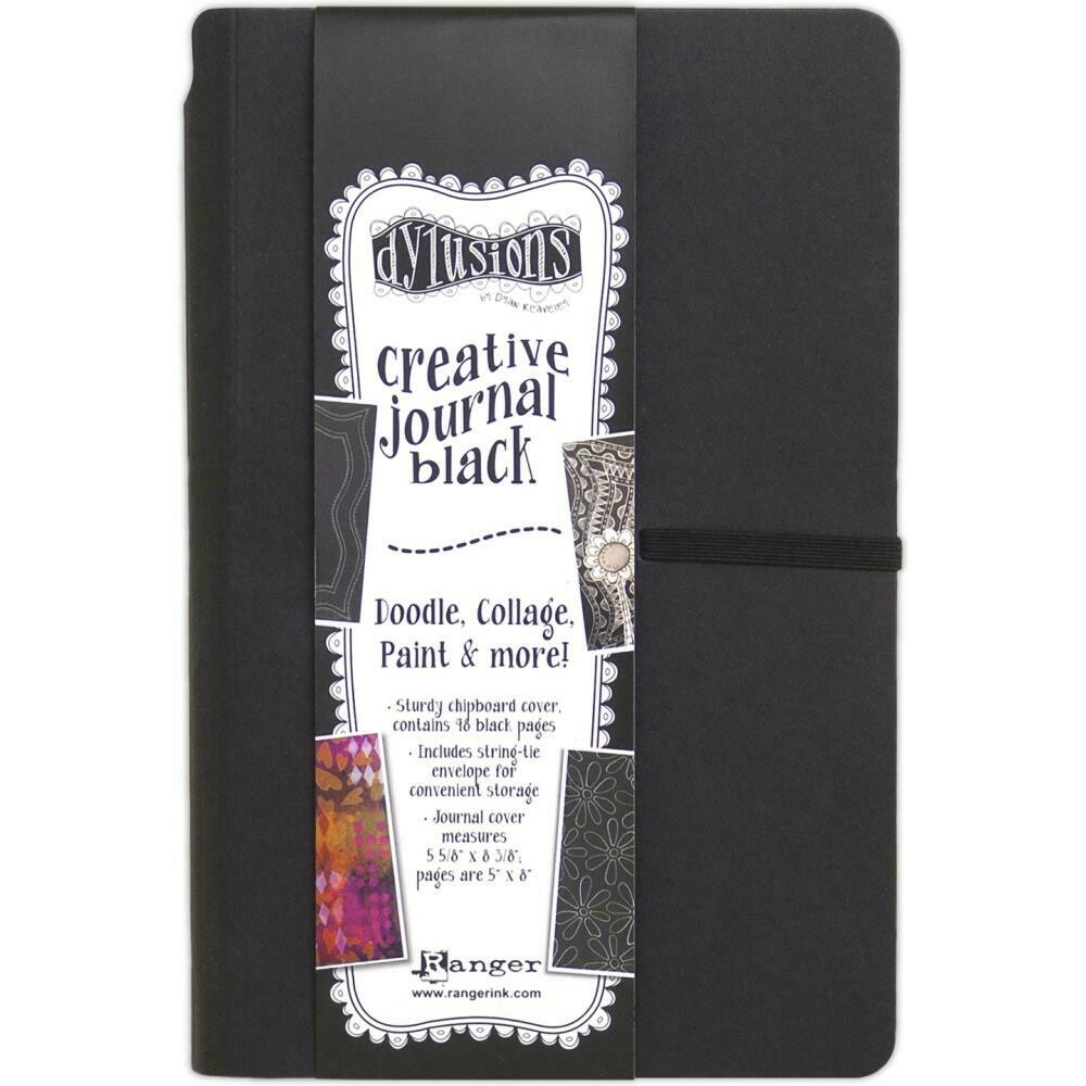 "Dyan Reaveley's Dylusions Creative Journal Black 5.625"" X 8.375"""