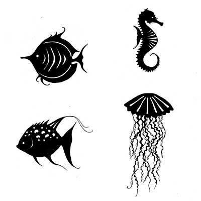 Lavinia Stamps - Sea Creatures