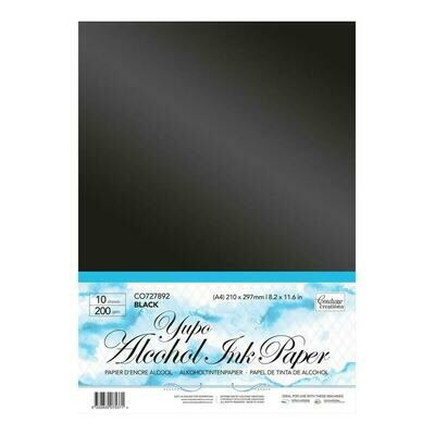 Yupo Paper - Black A4 - 200gsm (10 sheets per pack)