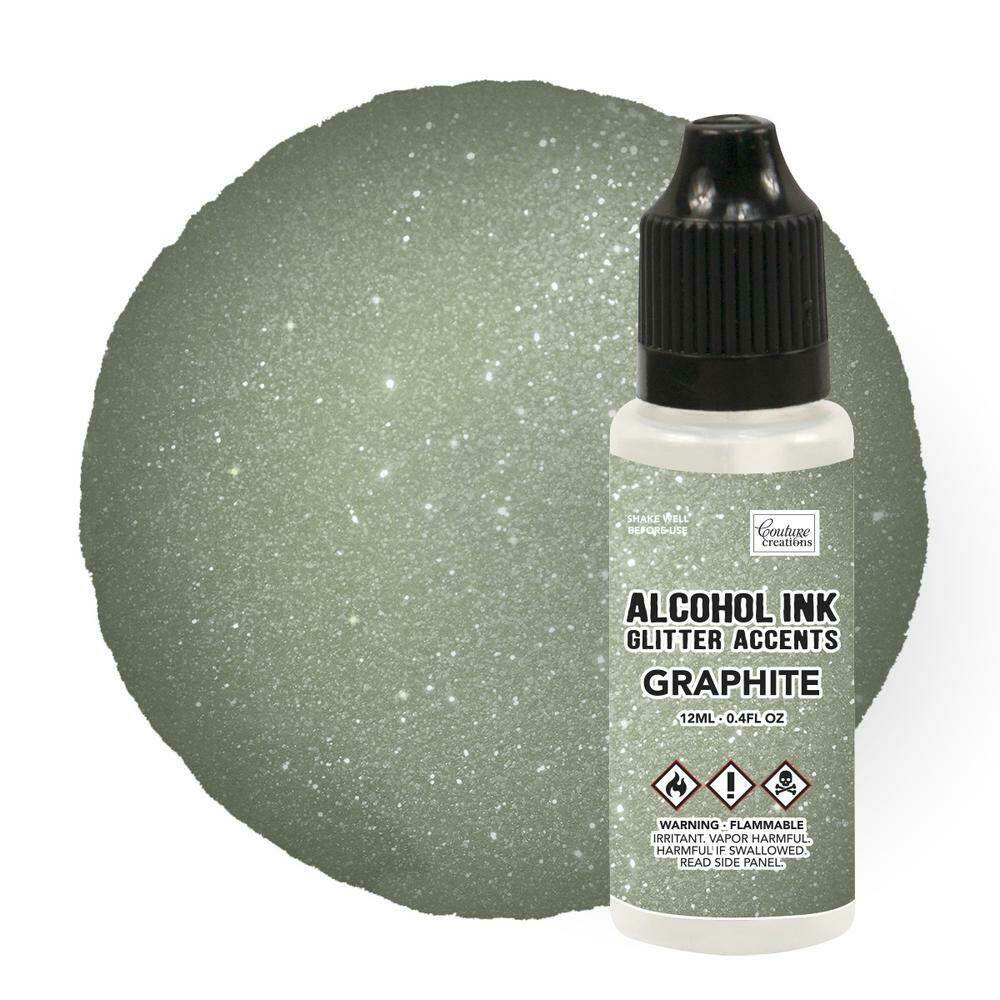 Alcohol Ink Glitter Accents - Graphite - 12mL