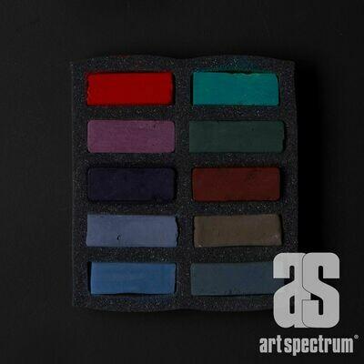 Art Spectrum Extra Soft Square Pastels - Darks - Set of 10