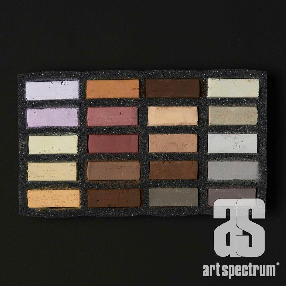 Art Spectrum Extra Soft Square Pastels - Skintones - Set of 20