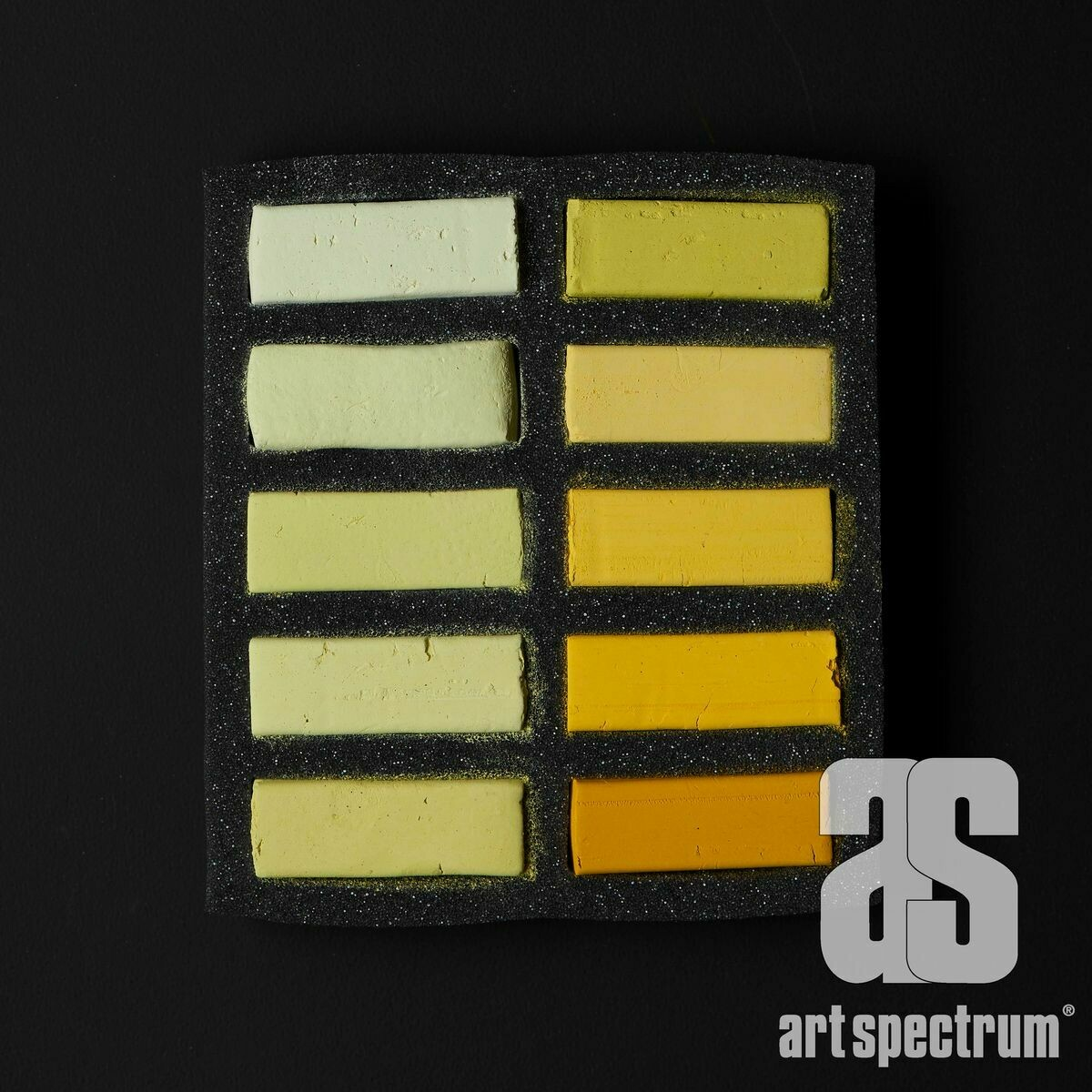 Art Spectrum Extra Soft Square Pastels - Yellow - Set of 10