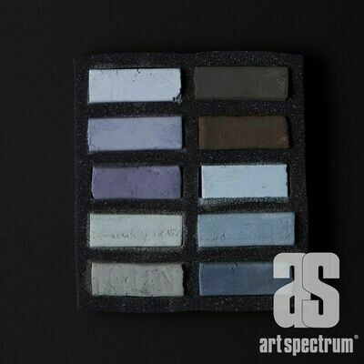 Art Spectrum Extra Soft Square Pastels - Warm Greys - Set of 10