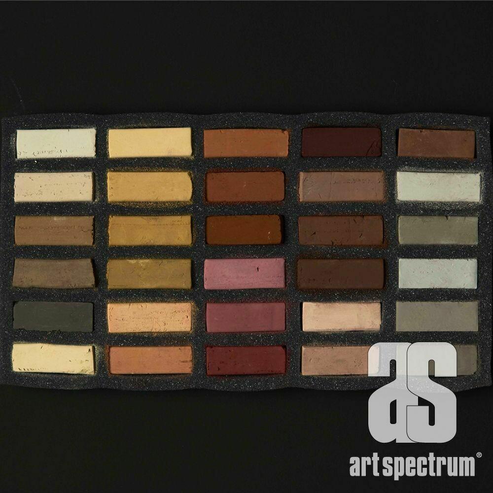 Art Spectrum Extra Soft Square Pastels - Eaths - Set of 30