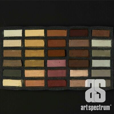 Art Spectrum Extra Soft Square Pastels - Eaths - Set of 30