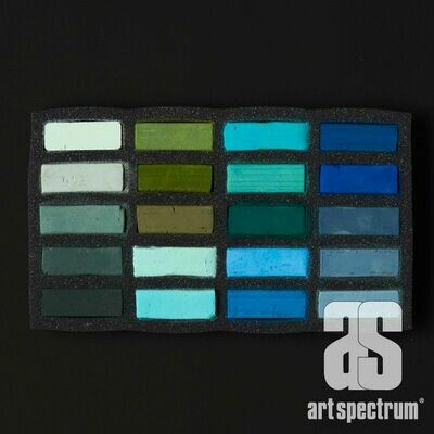 Art Spectrum Extra Soft Square Pastels - Temperate - Set of 20