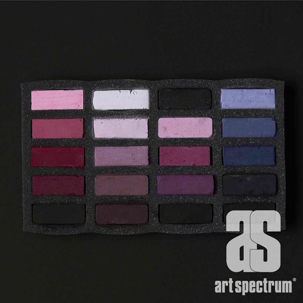 Art Spectrum Extra Soft Square Pastels - Violets - Set of 20