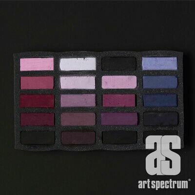 Art Spectrum Extra Soft Square Pastels - Violets - Set of 20
