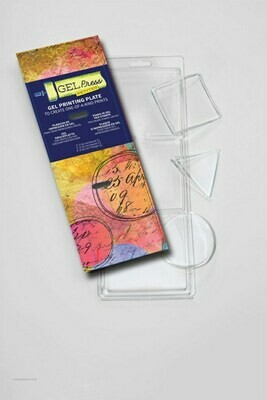 Petites circle triangle square - Gel Press® Mono Printing Plate