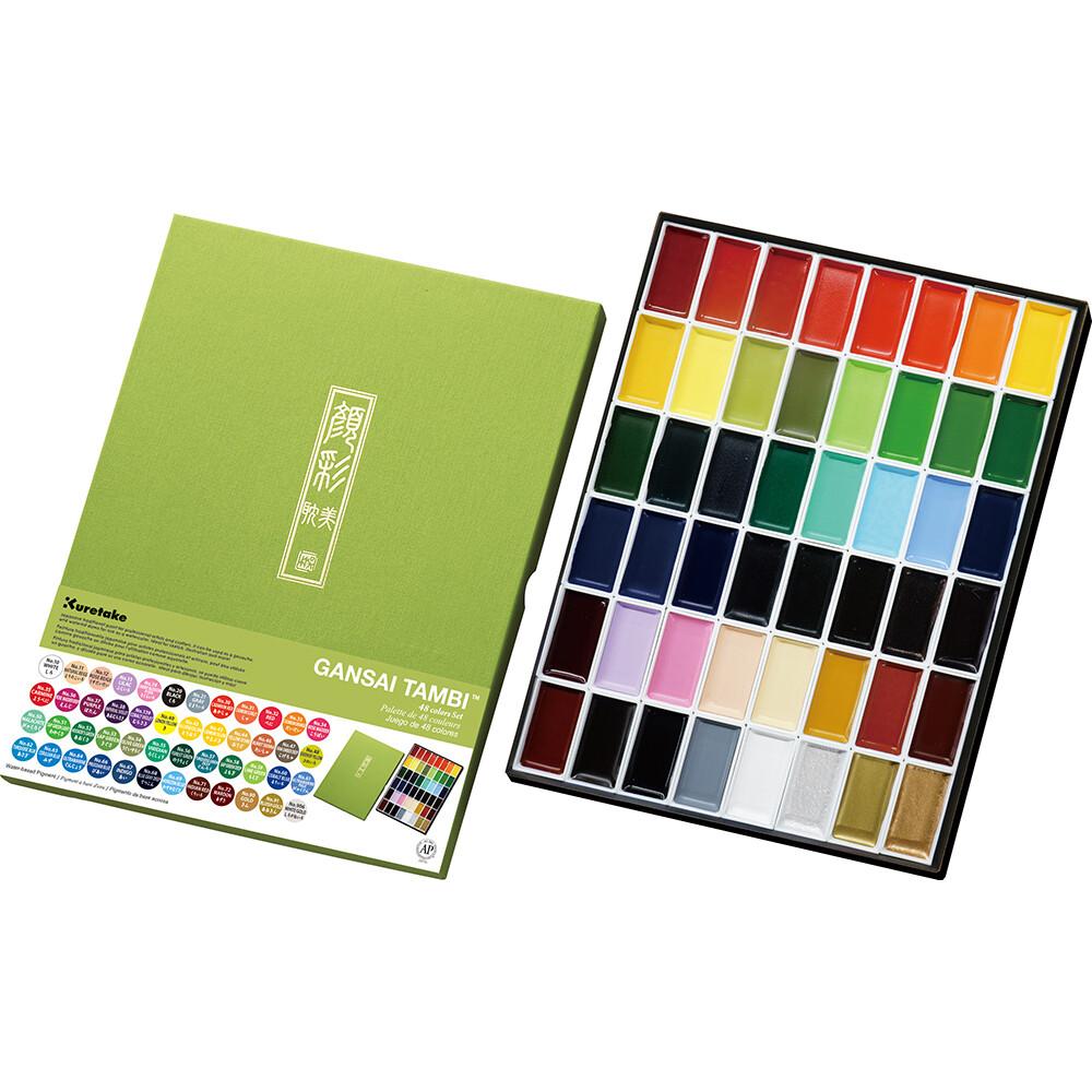 Kuretake Gansai Tambi Watercolours - 48 Colours