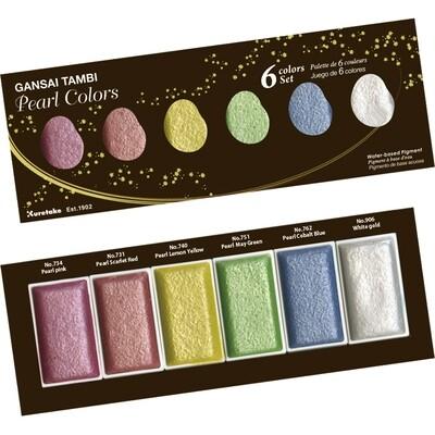 Kuretake Gansai Tambi Watercolours - Pearl Colours