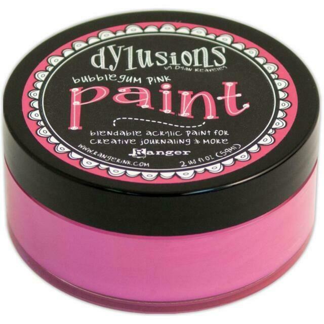 Dylusions Blendable Acrylic Paint 2oz - Bubblegum Pink