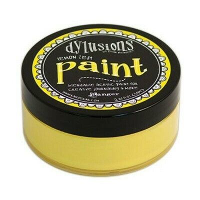 Dylusions Blendable Acrylic Paint 2oz - Lemon Zest