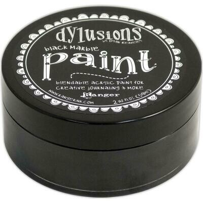 Dylusions Blendable Acrylic Paint 2oz - Black Marble