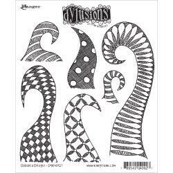 Dyan Reaveley's Dylusions Cling Stamp - Doodled Delight