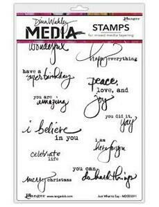 Dina Wakley Unmounted Stamps - Just What To Say