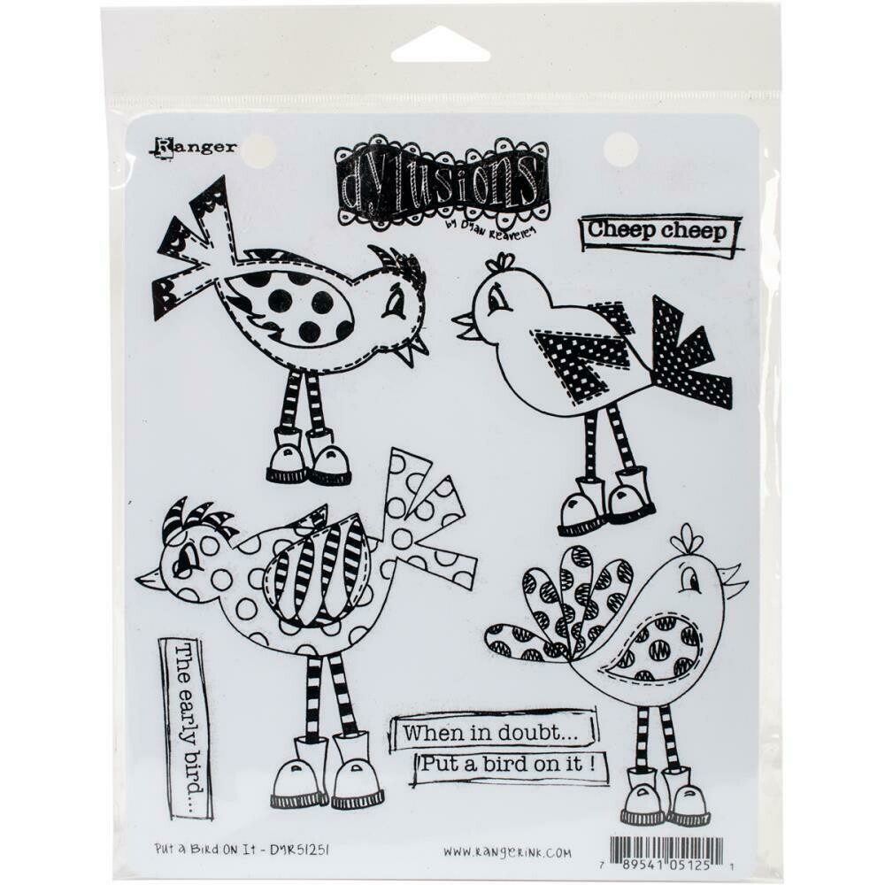 Dyan Reaveley's Dylusions Cling Stamp - Put A Bird On It