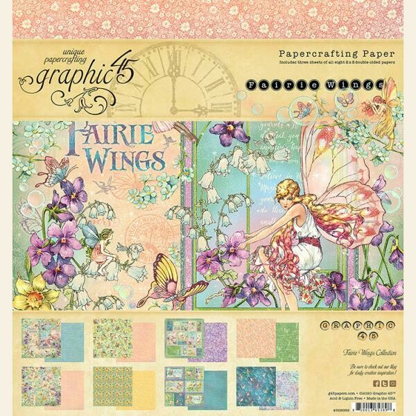 "Graphic 45 - Fairie Wings 8""x8"" Double-Sided Paper Pad"