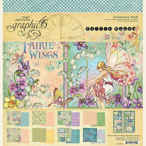 """Fairie Wings - Graphic 45 Collection Pack 12""""X12"""""""