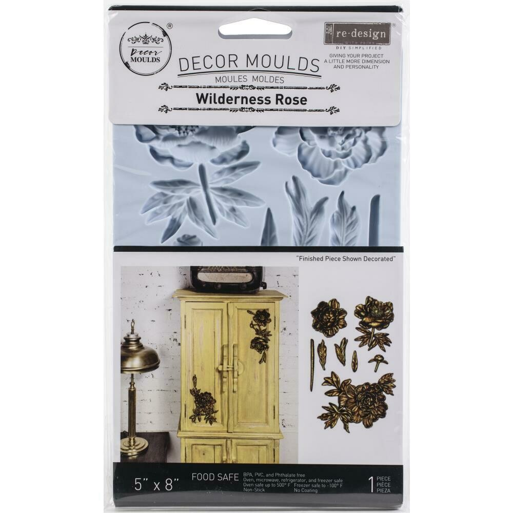 Prima Marketing Redesign Mould - Wilderness Rose