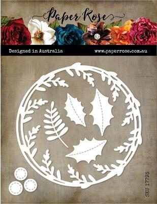 Paper Rose Metal Die - Christmas Scribble Wreath