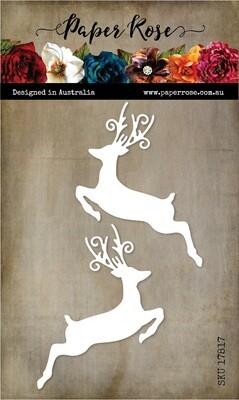 Paper Rose Metal Die - Jumping Reindeer