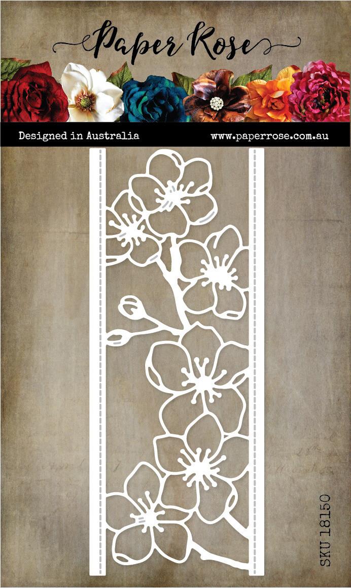 Paper Rose Metal Die- Lovely Florals Blossom Border