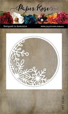 Paper Rose Metal Die- Snowflake Circle