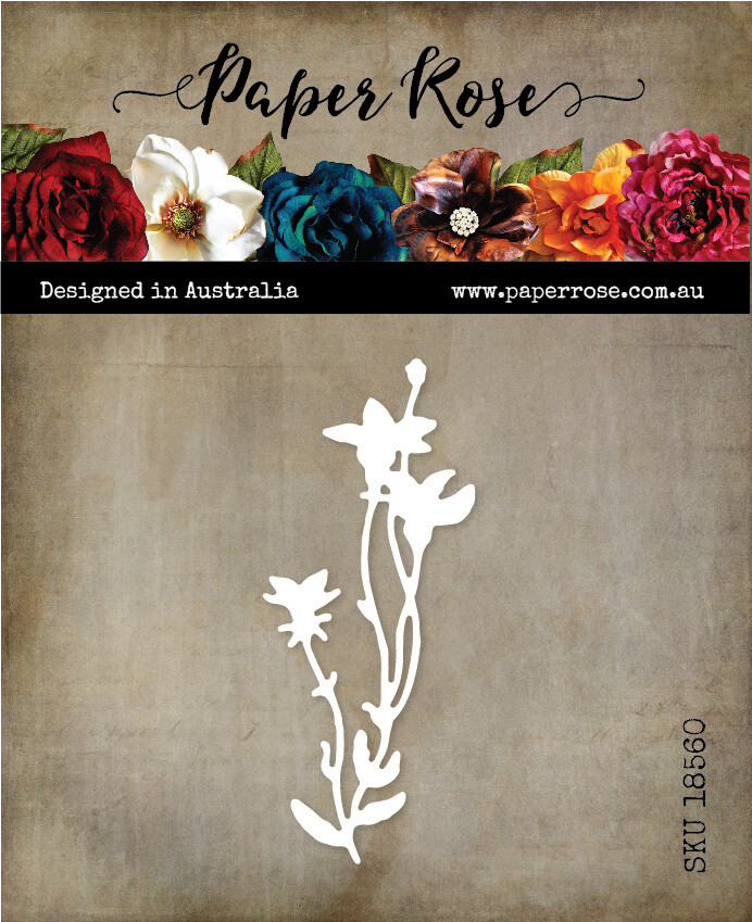 Paper Rose Metal Die- Wildflower 3