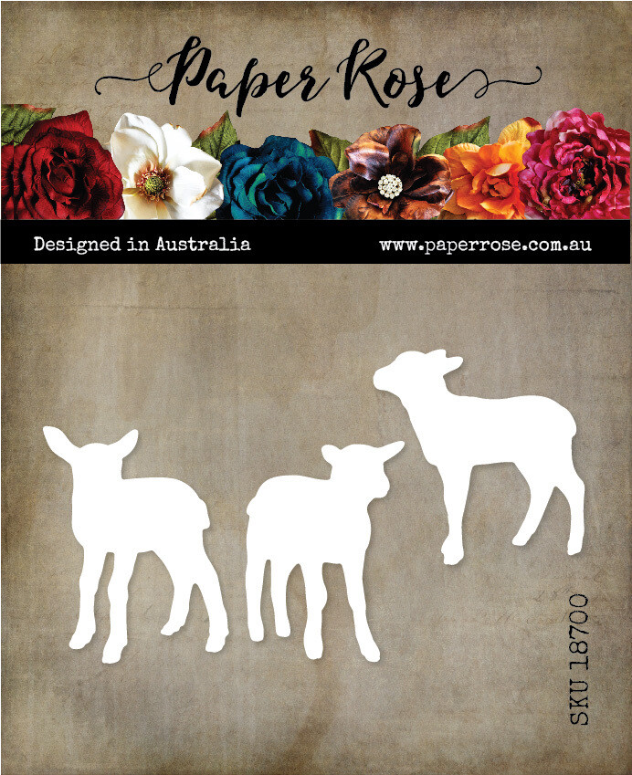 Paper Rose Metal Die- Lamb Trio