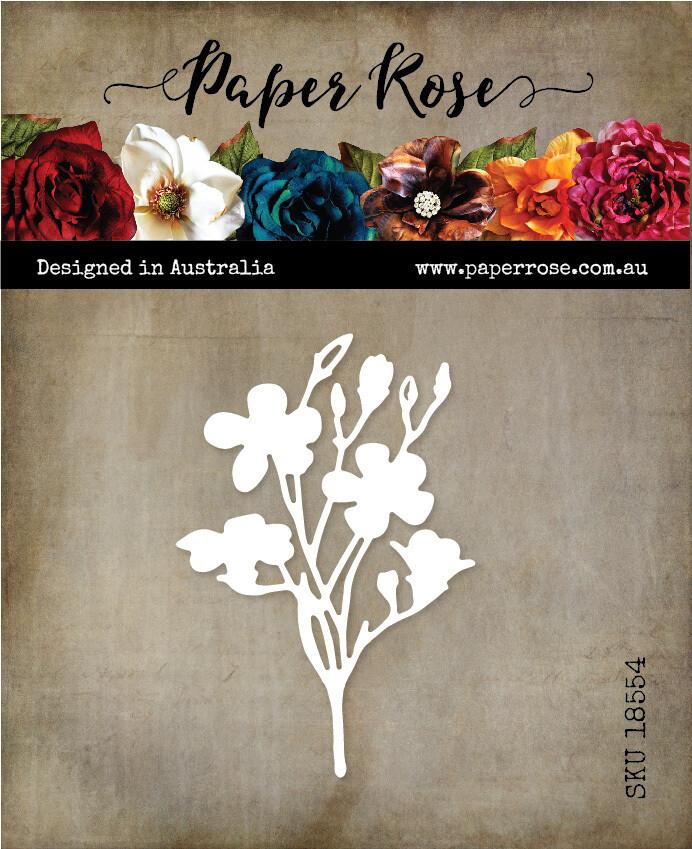 Paper Rose Metal Die- Wildflower 1