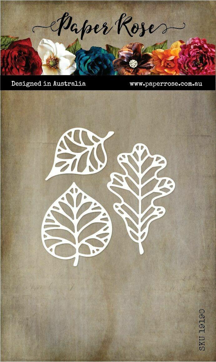 Paper Rose Metal Die- Autumn Leaf Outlines