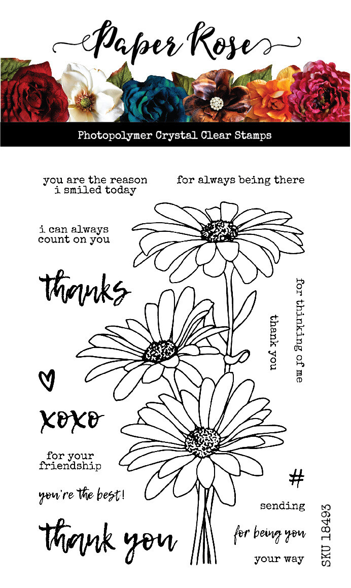 Paper Rose - Daisy Bouquet Clear Stamp Set