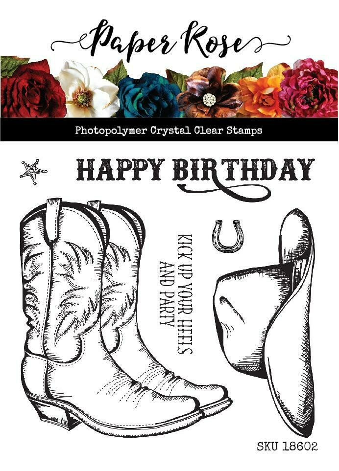 "Paper Rose - Kick Your Heels Up 4"" x 4"" Clear Stamp Set"