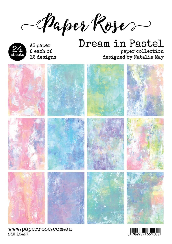 Paper Rose A5 24pc Paper Pack - Dream in Pastel