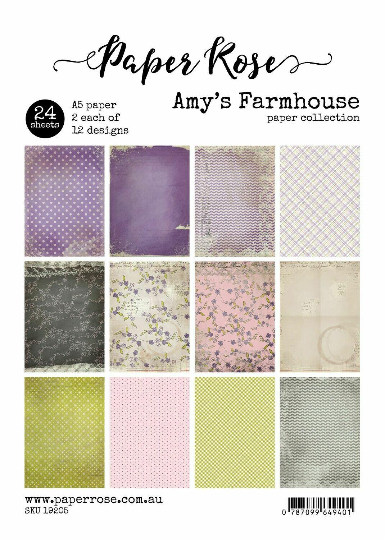 Paper Rose A5 24pc Paper Pack - Amy's Farmhouse