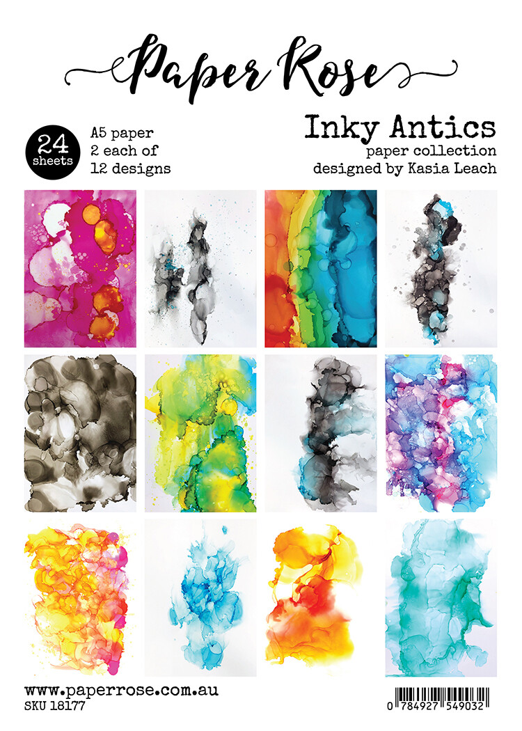 Paper Rose A5 24pc Paper Pack - Inky Antics