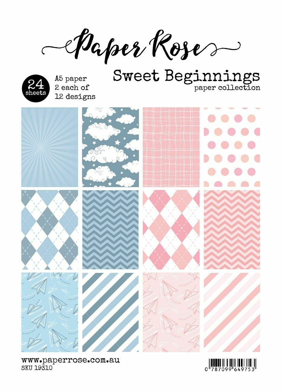 Paper Rose A5 24pc Paper Pack - Sweet Beginnings