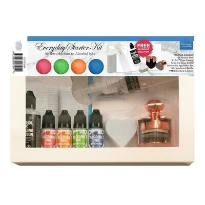 Couture Creations - Alcohol Ink - Everyday Starter Kit - 4 inks, blending sol, applicator tool + more