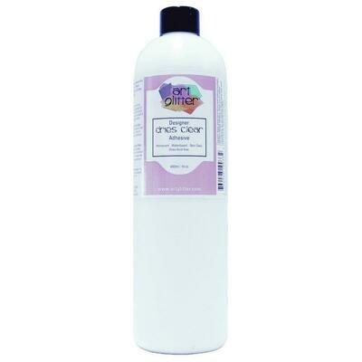 Art Institute Glitter Design Glue - Dries Clear Adhesive Refill 480ml (16oz)