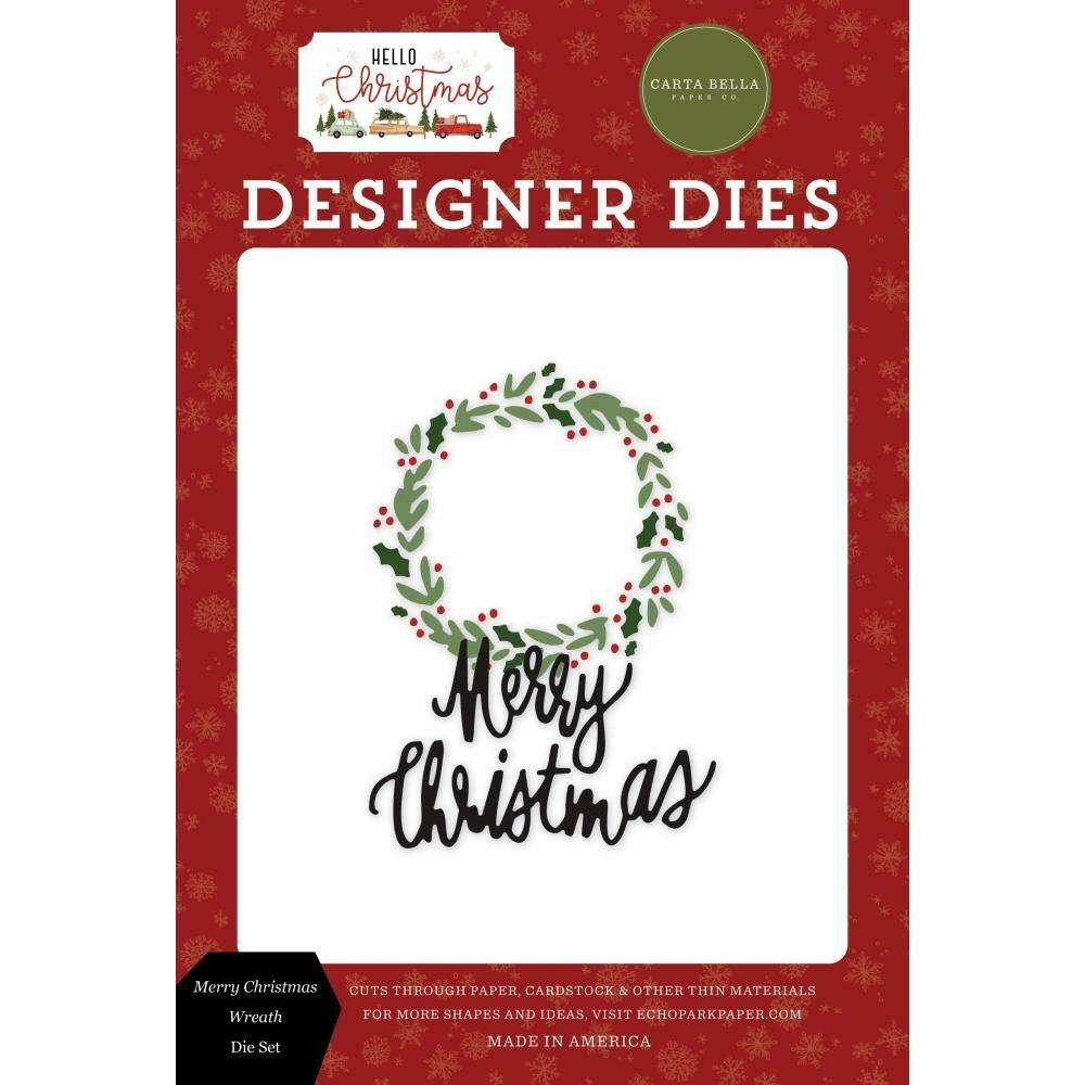 Hello Christmas - Merry Christmas Wreath Die Set