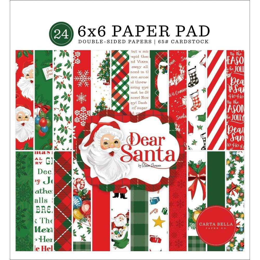 "Dear Santa - Double-Sided Paper Pad 6""X6"" 24/Pkg"