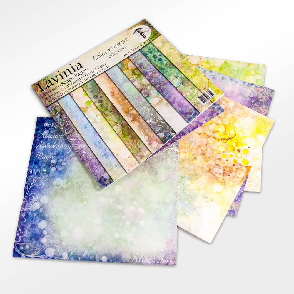 "Lavinia Dreamscape Papers - The Colourburst Collection 8"" x 8"""