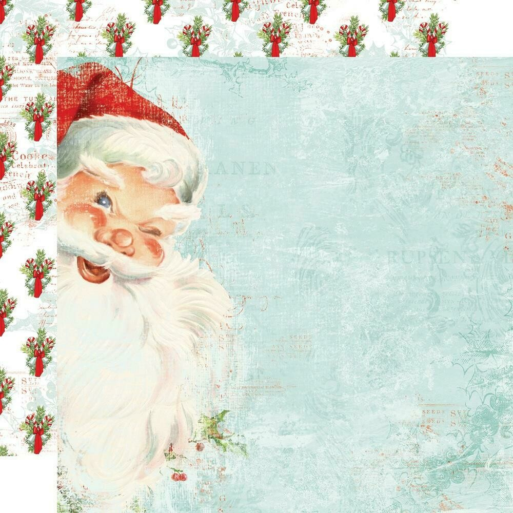 """Simple Vintage North Pole Double-Sided Cardstock 12""""X12"""" - St Nicholas"""