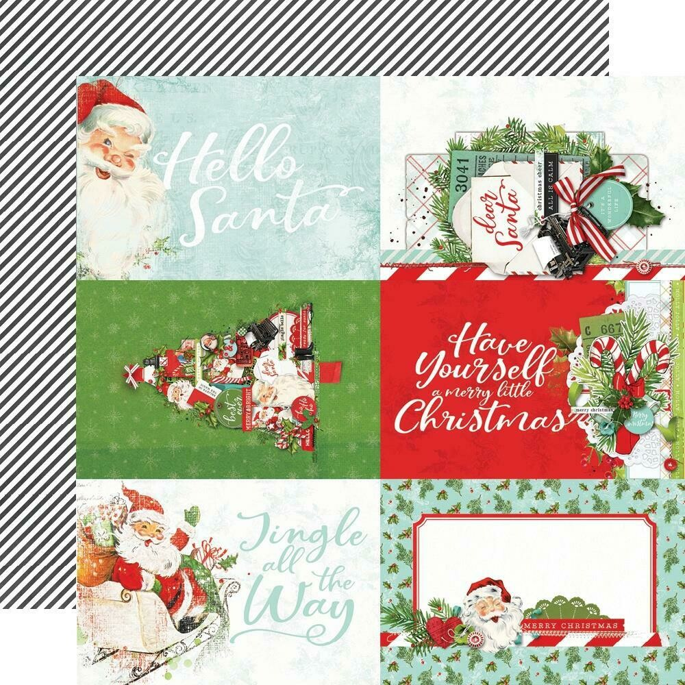 """Simple Vintage North Pole Double-Sided Cardstock 12""""X12"""" - 4""""x6"""" Elements"""