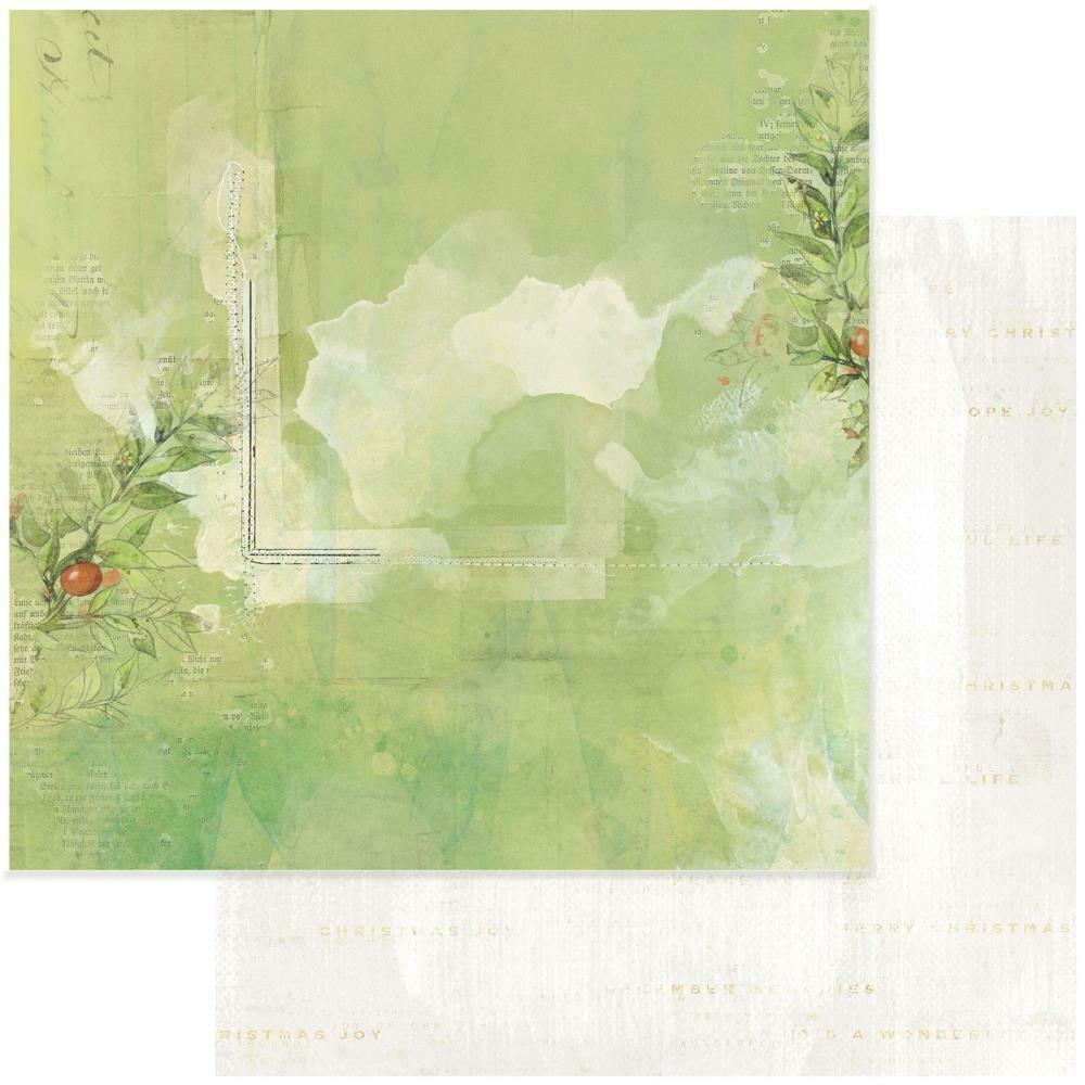 "Vintage Artistry Noel Double-Sided Cardstock 12""X12"" - Aquifolium"