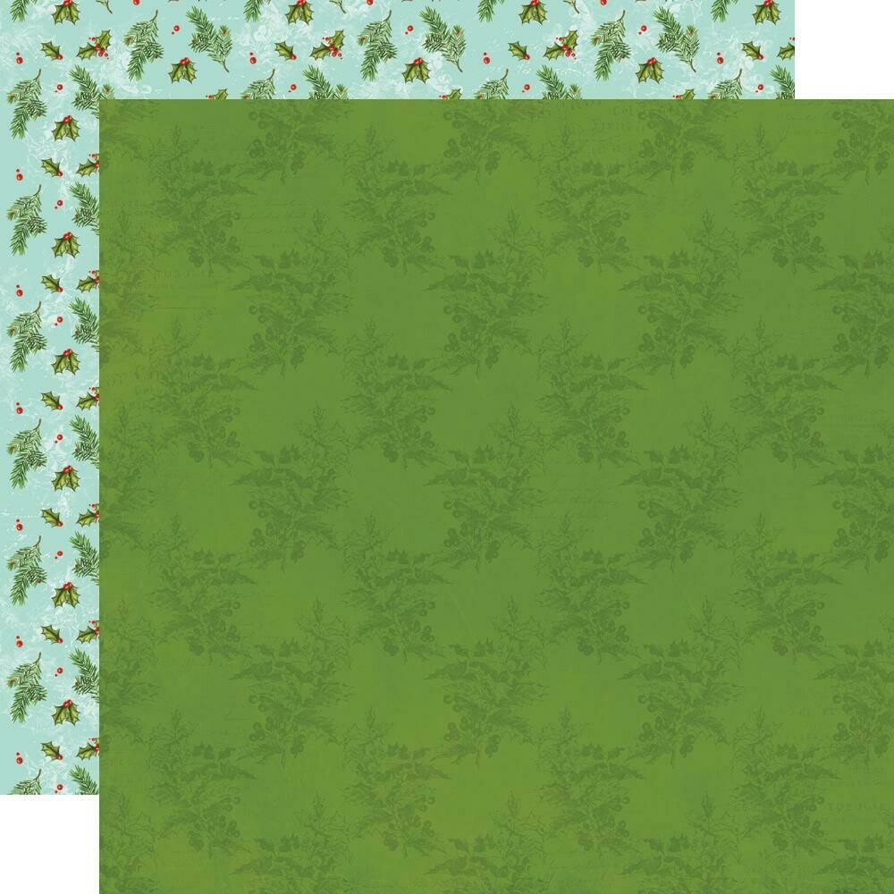 """Simple Vintage North Pole Double-Sided Cardstock 12""""X12"""" - Cool Yule"""